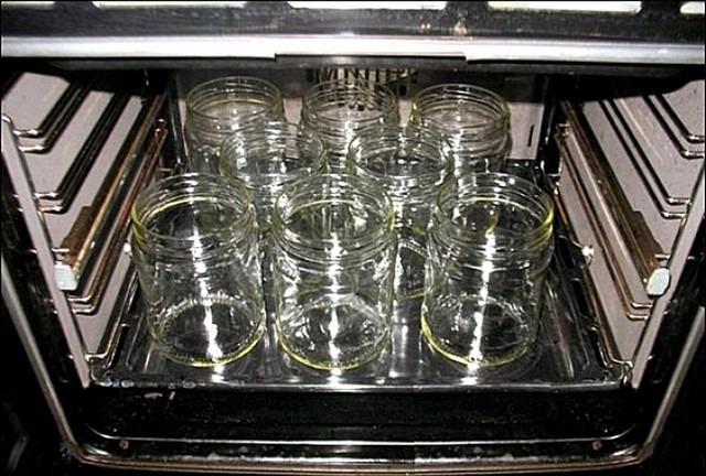 стерилизуем банки в газовой духовке