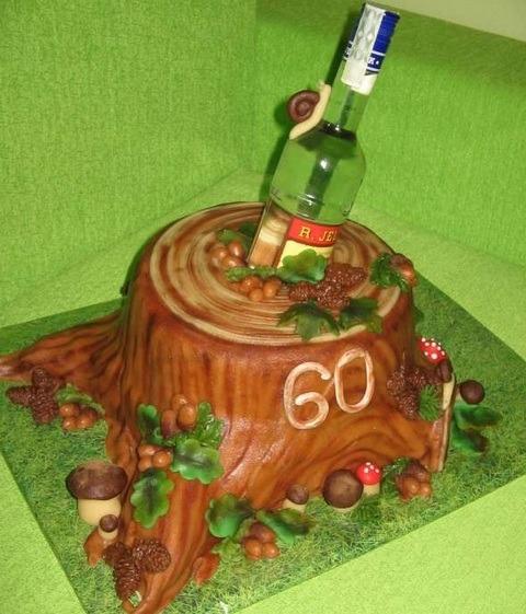 торт в виде пня