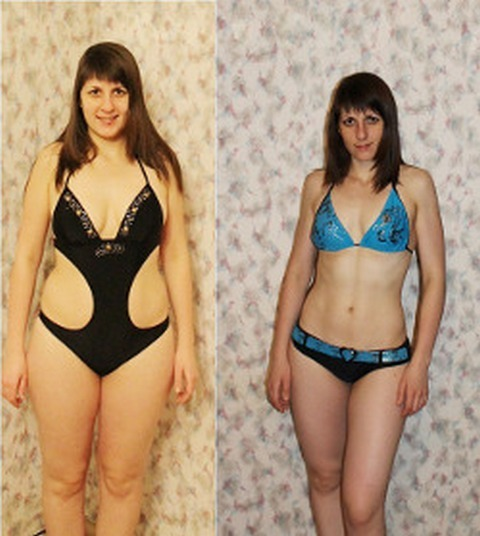 photo comparison before and after the diet