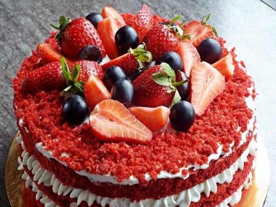 украшения торта фруктами