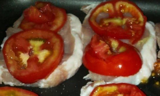 Отправляем кусочки помидор
