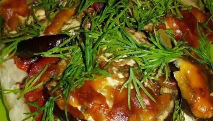 Свинина запеченная - с овощами и сыром в духовке