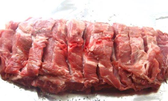 Прорезаем мясо