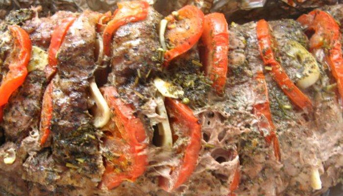 Мясо в фольге с итальянским акцентом