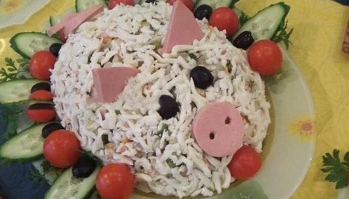 Салат новогодний «Царская свинка»