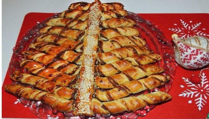 Новогодний пирог «Финиковая Ёлка»