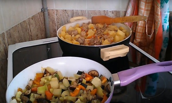 добавляем оставшиеся овощи