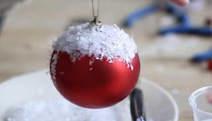 шар с искусственным снегом