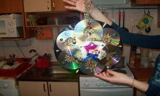 игрушки из DVD дисков