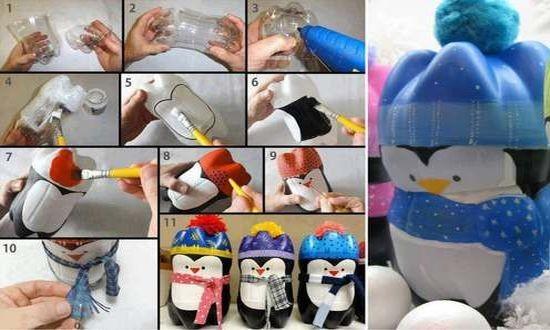 Украшение из пластиковых бутылок