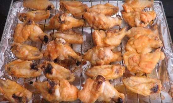 приготовленные крылышки