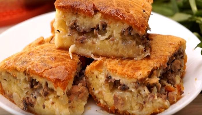Рыбный пирог с картошкой