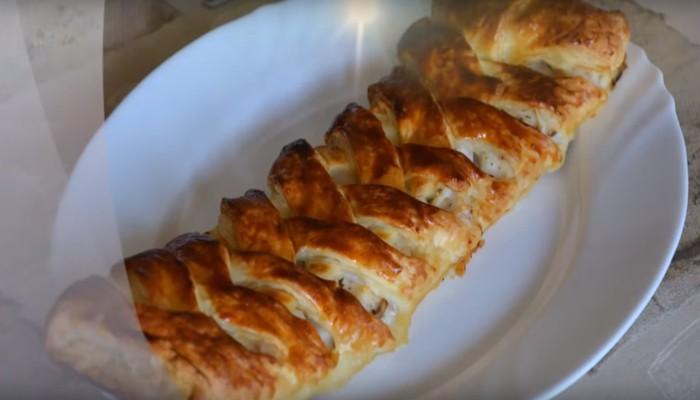 Пирог со свежей рыбой
