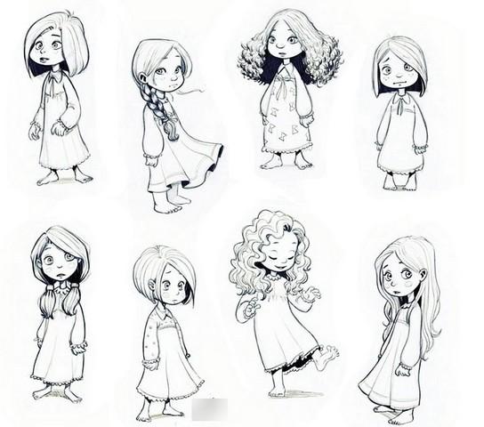 эскизы для девочек