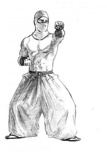 рисунок ниндзя