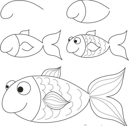 эскиз рыбки