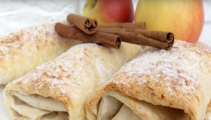 Яблочные пирожки из лаваша