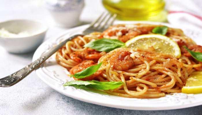 Соус с креветками для спагетти