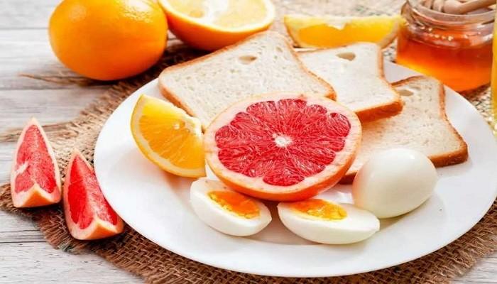 грейпфрут и яйца