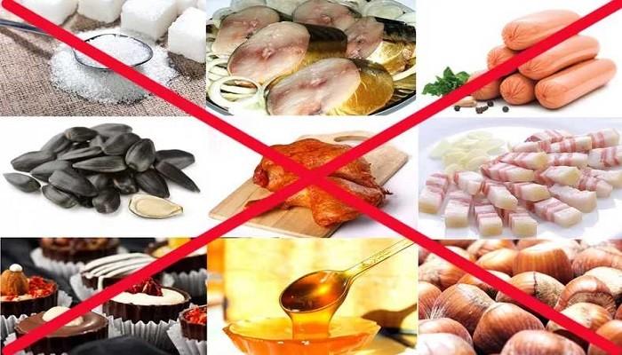 запрещенные продукты на диете Магги