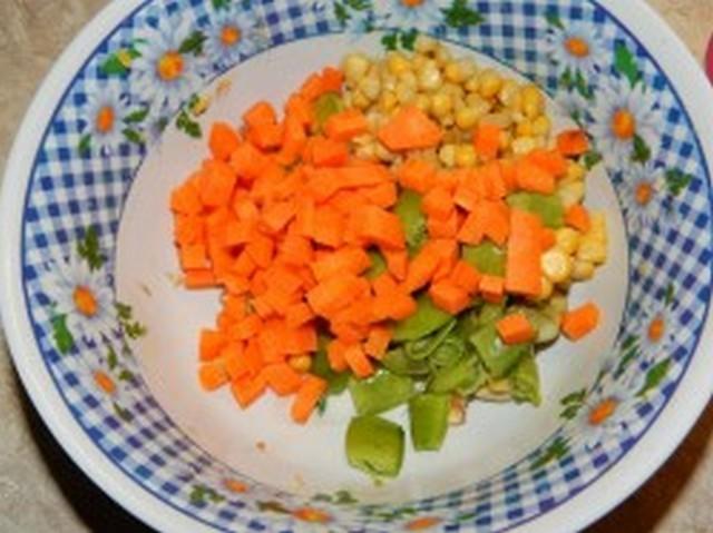 порезанные овощи