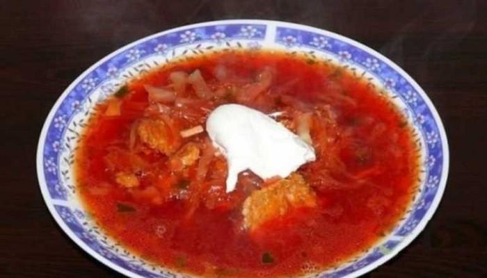 Быстрый борщ из тушенки и помидоров - рецепт пошаговый с фото