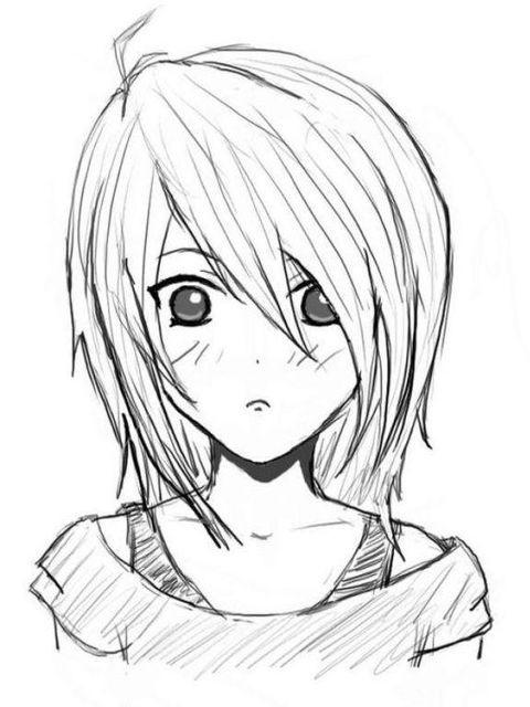 Днем, красивые картинки для срисовки карандашом аниме