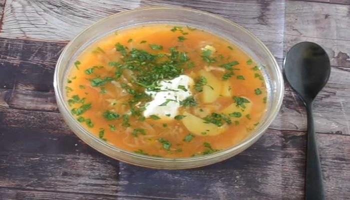 Рецепт борща без свеклы с томатной пастой без зажарки