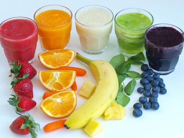 смузи и фрукты