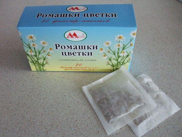 ромашковый чай в пакетиках