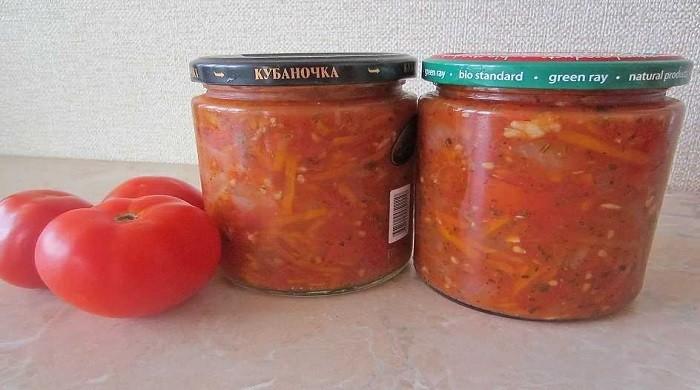 Салат из помидор на зиму — простые рецепты без стерилизации в банках