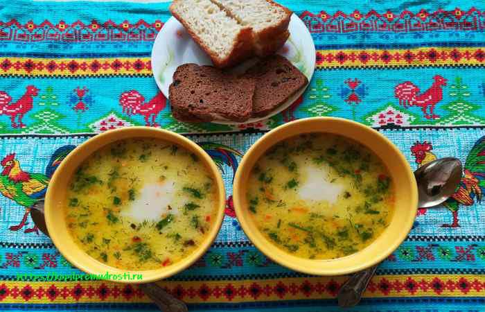 Быстрый сырный суп