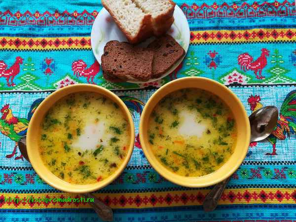 Готовим сырный суп