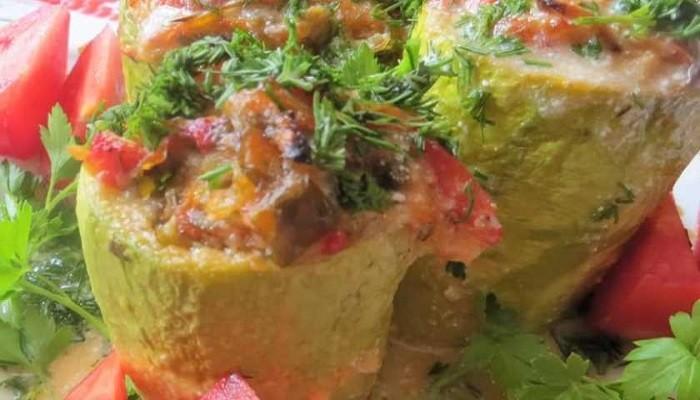 Простой и вкусный рецепт фаршированных кабачков без мяса