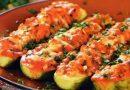 Кабачки, фаршированные овощами, запечённые в духовке — как приготовить быстро и вкусно