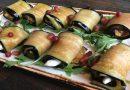 Фаршированные рулетики из баклажан — рецепты вкусной закуски
