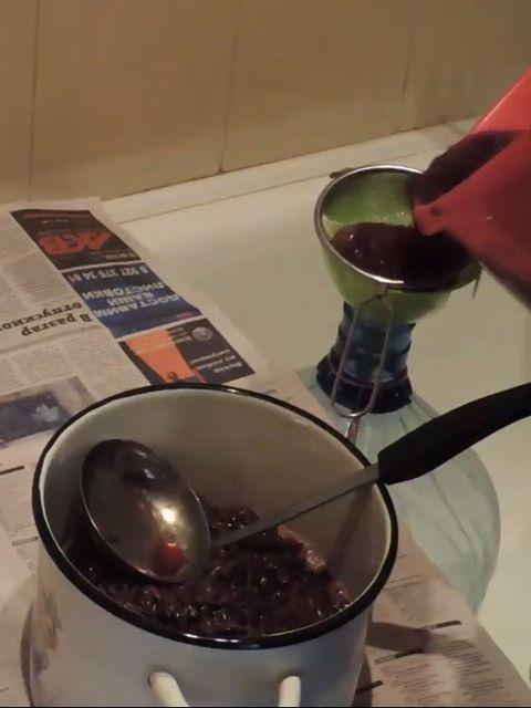 отделяем сок от жмыха