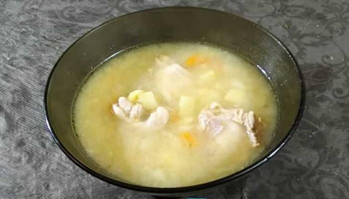 Гороховый суп с курицей быстрого приготовления в мультиварке