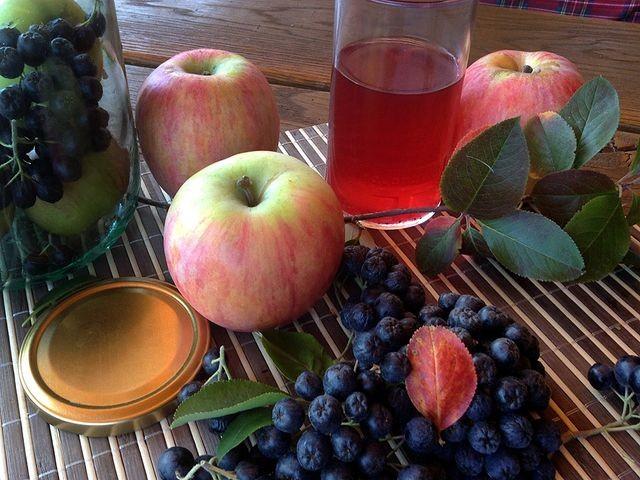 вино из черноплодной рябины с яблоками