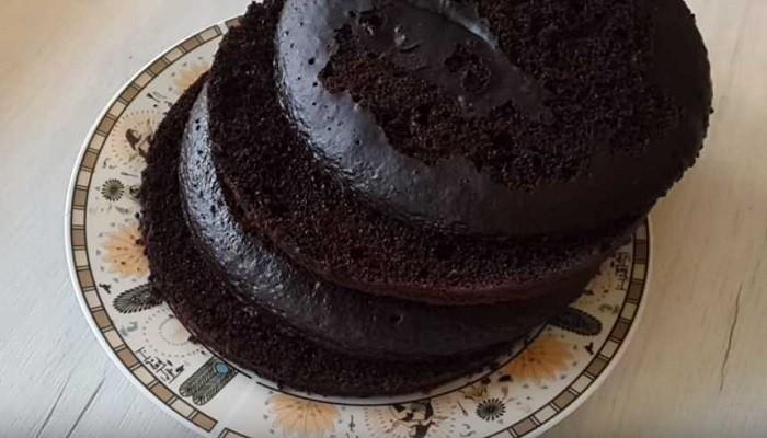 Шоколадно-кофейный бисквит на кефире