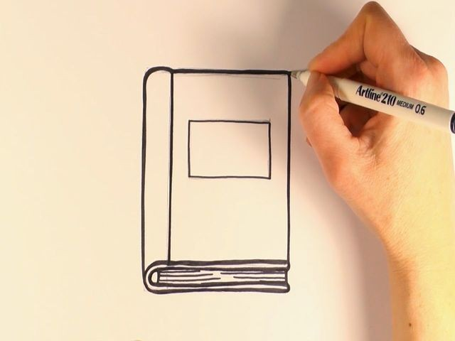 1-kniga Как нарисовать книгу карандашом поэтапно для начинающих