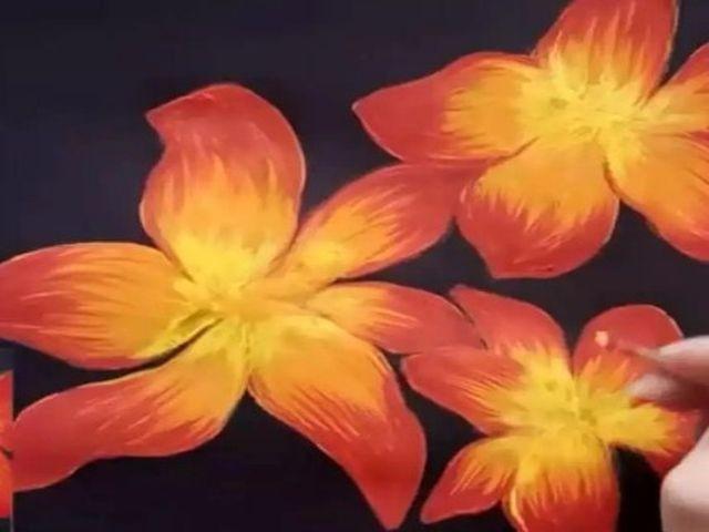 раскрашиваем цветы