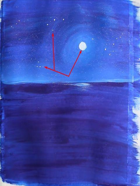 рисуем звёздное небо