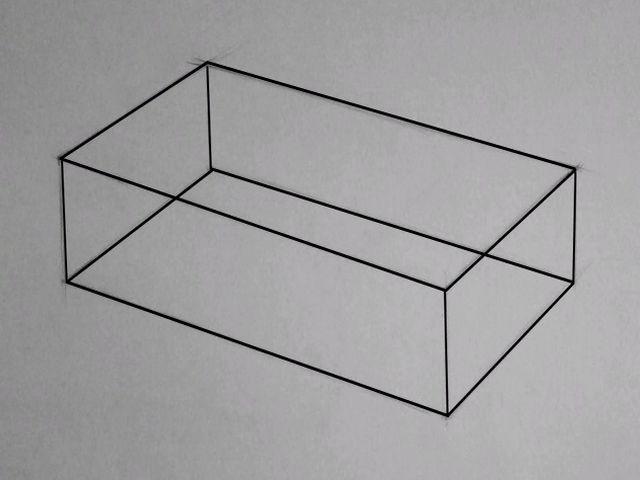 нарисованный параллелепипед