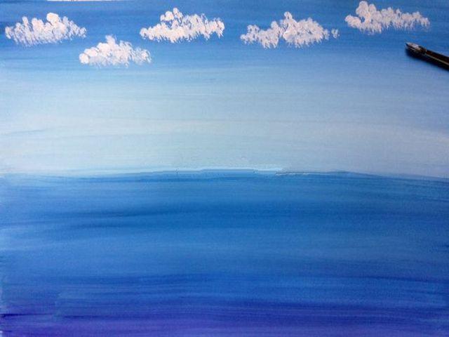 рисуем облака
