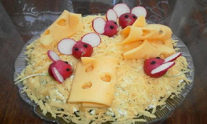Салат любители сыра
