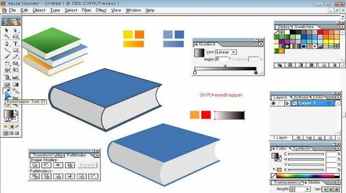 Как нарисовать открытую книгу в иллюстраторе Adobe Illustrator