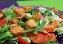 Рецепты салата с солёной красной рыбой, очень вкусно, по-домашнему
