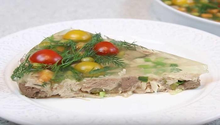 куриное заливное с желатином