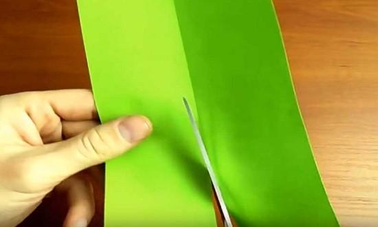 разрезаем лист пополам